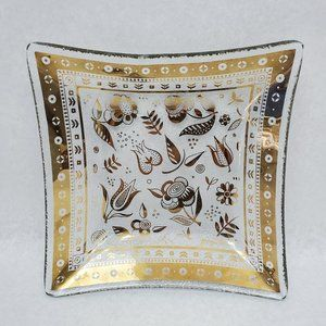 MCM Georges Briard Persian Garden Bent Glass Candy